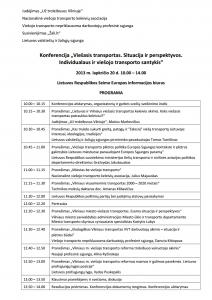 konferencijos programa
