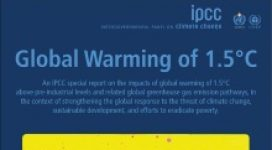 Global warming of one and a half degrees Celsius