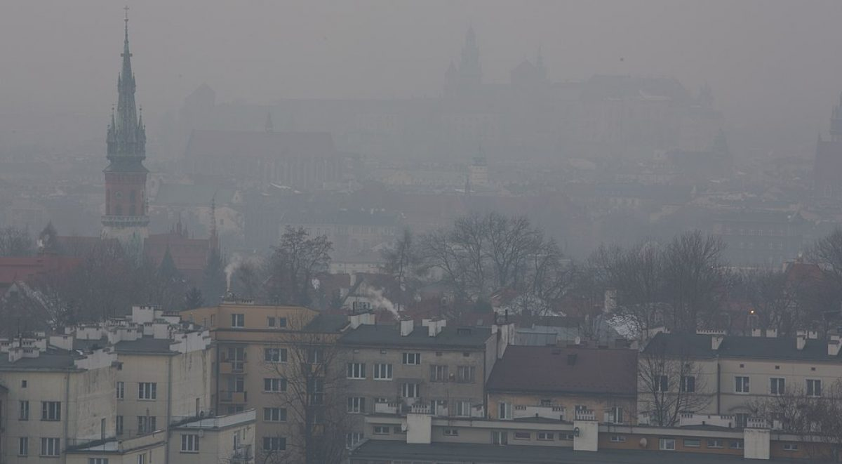Cracow in a smog