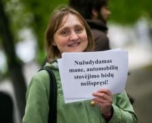 Vilniuje protestas prieš medžių kirtimą