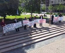 Žalieji protestavo prieš miškų naikinimą