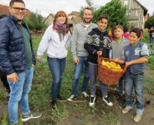 Visiting community garden in Hungary